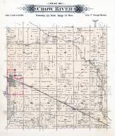 Crow River Township, Belgrade, Georgeville, Stearns County 1896 published by C.M. Foote & Co
